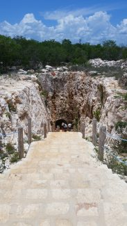 Entry to the cave housing the beautiful cenote