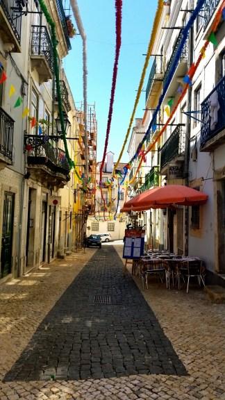 The narrow streets of Bairro Alto