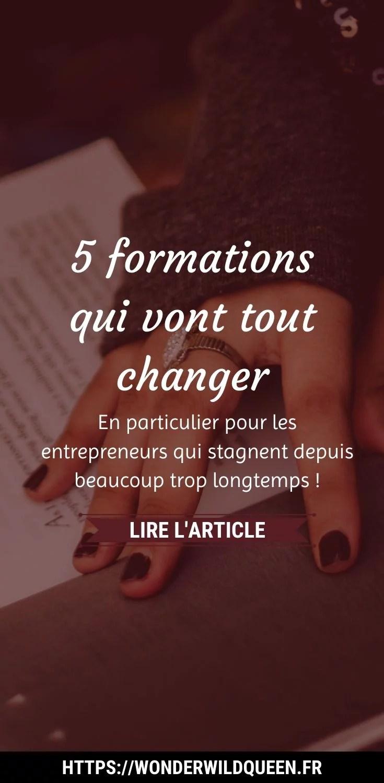 5 FORMATIONS QUI VONT TOUT CHANGER CHEZ LES ENTREPRENEURS QUI STAGNENT ET QUI N'ARRIVENT PAS À DÉPASSER UN CERTAIN PALLIER ! 😉