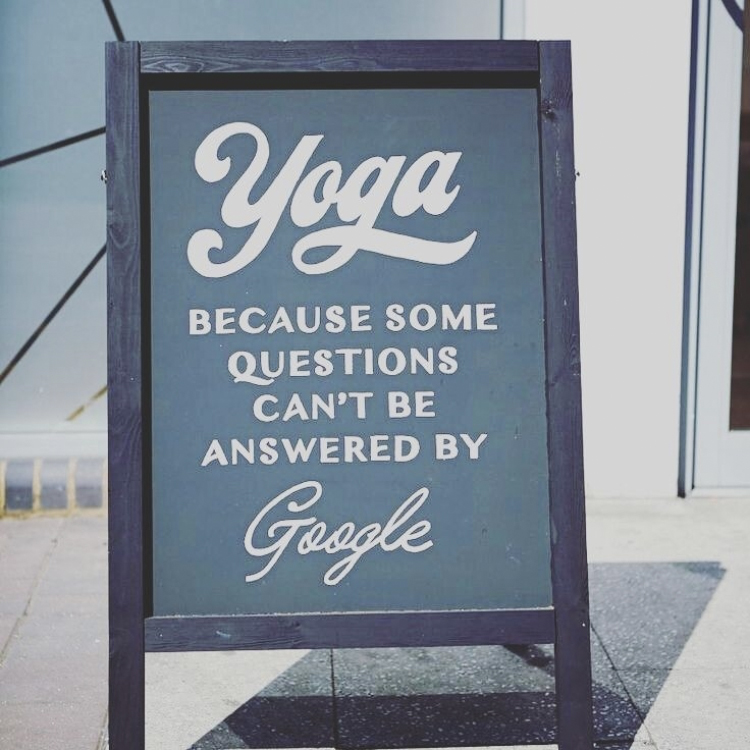 Yoga - because some questions can't be answered by google