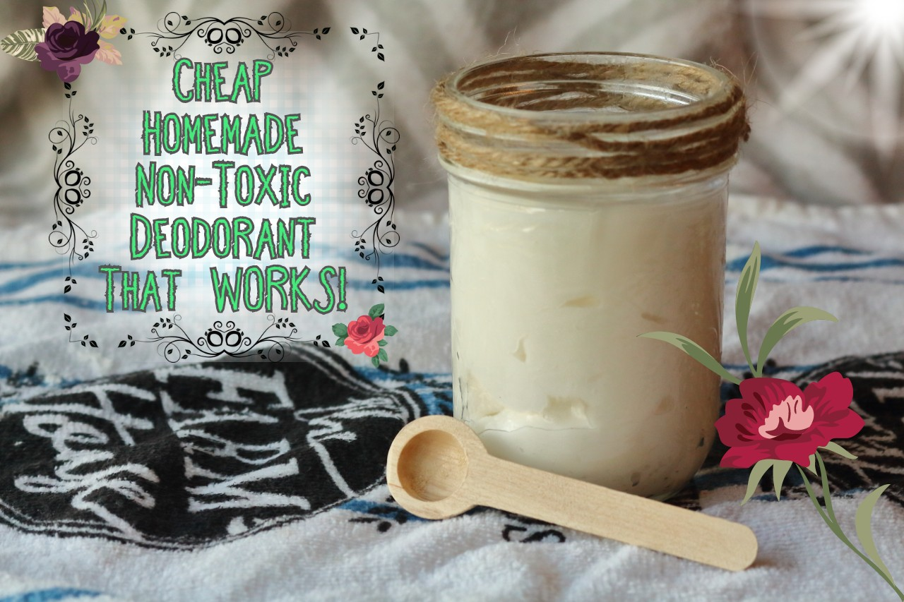 DIY Homemade, Non-Toxic, Aluminum-Free Deodorant That WORKS!
