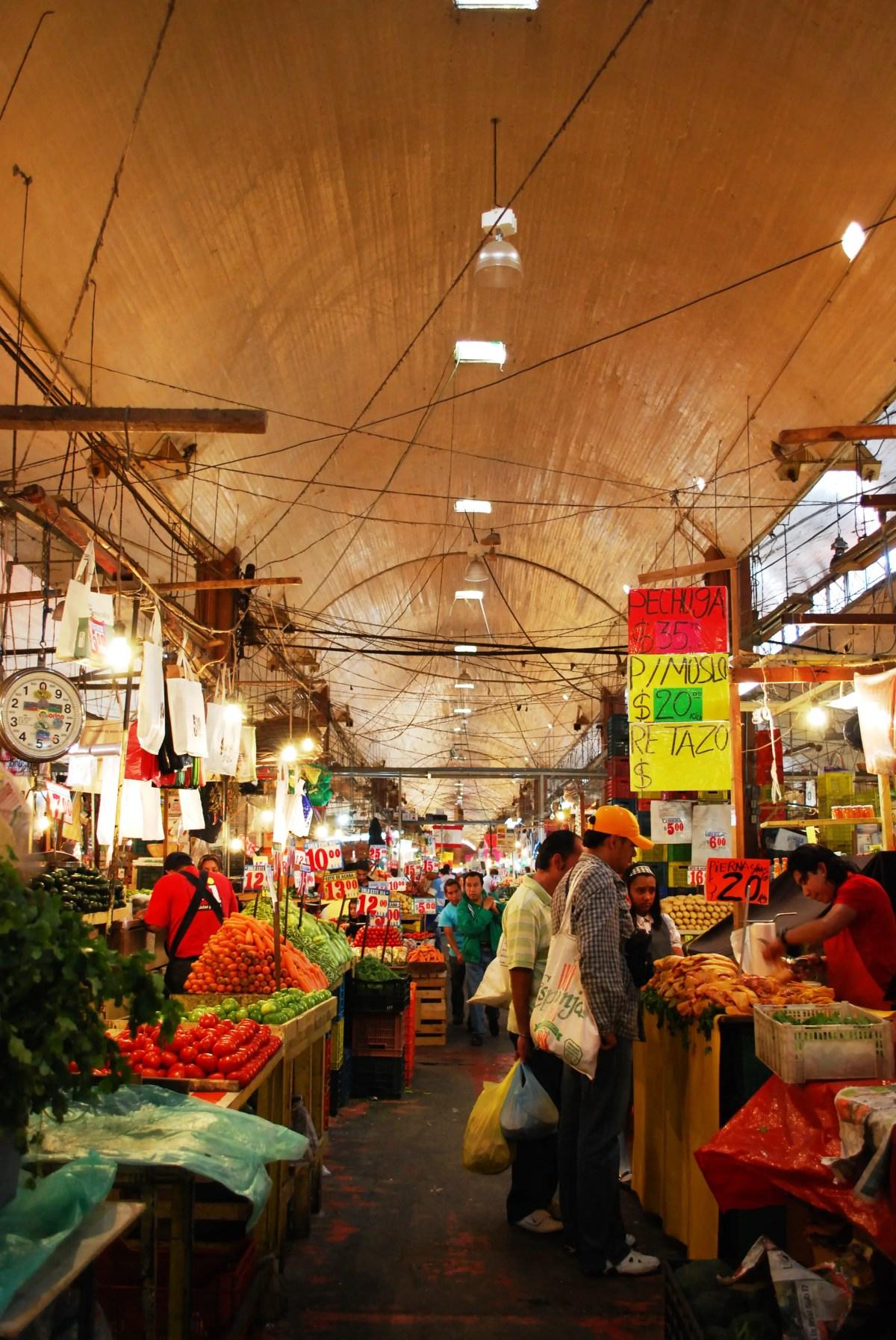 La Merced Market street market in Mexico City