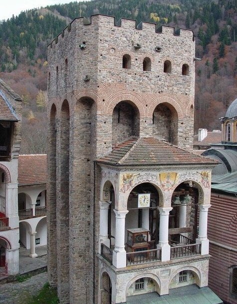 Hrelyu's Tower at the Rila Monastery