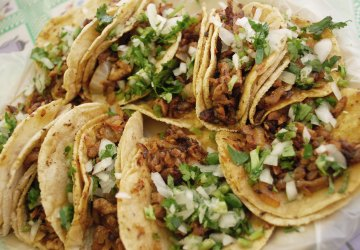 Tacos on a plate