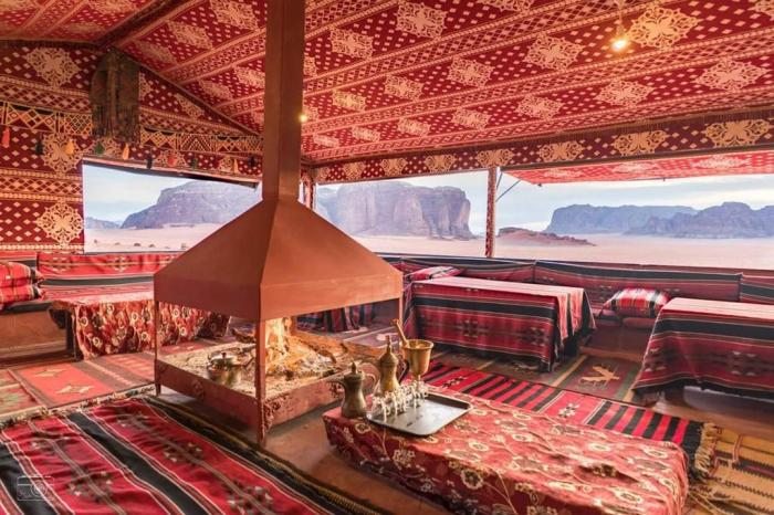 Bedouin traditional styled camp in Wadi Rum