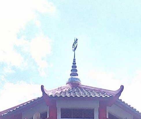 Simbol Bulan Bintang arsitektur masjid cheng ho