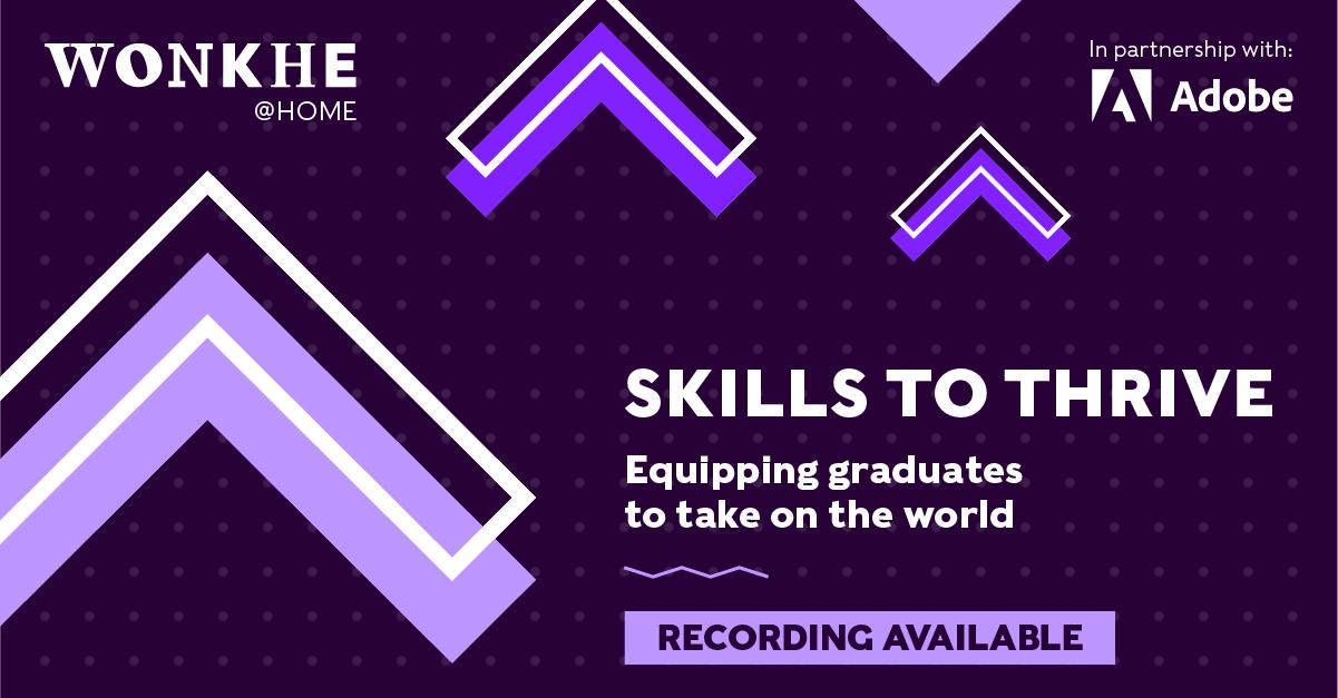 Image of Wonkhe @ Home: Skills to thrive