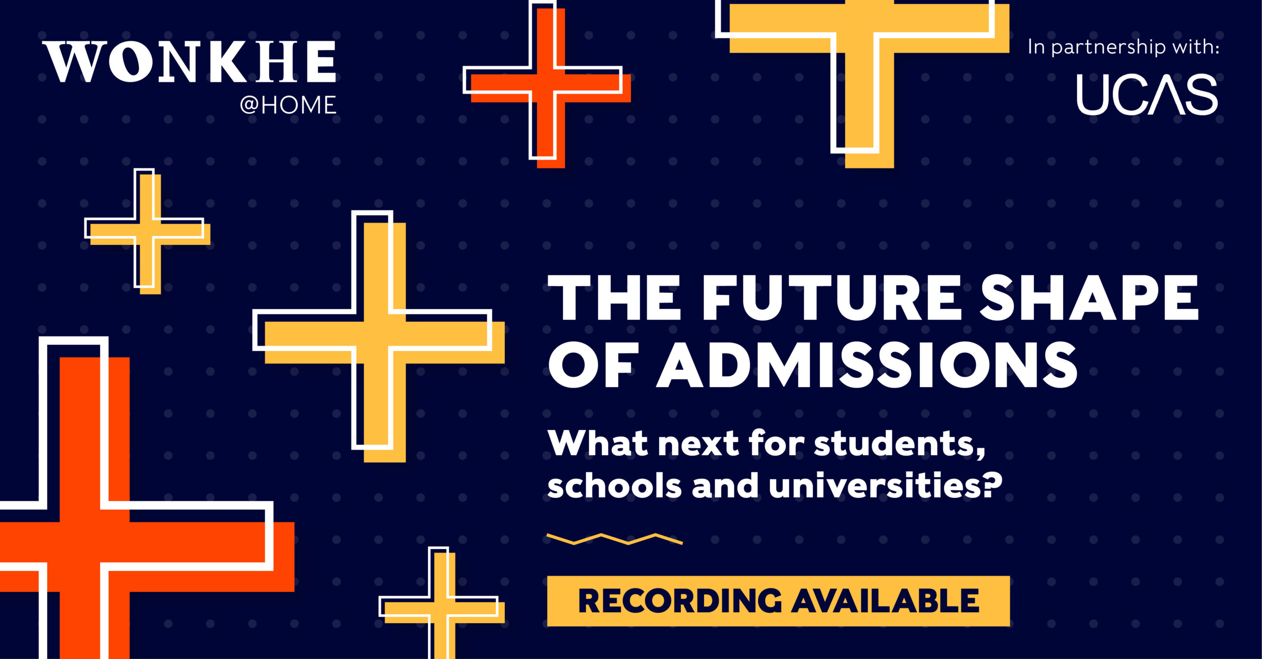 Image of Wonkhe @ Home: The future shape of admissions