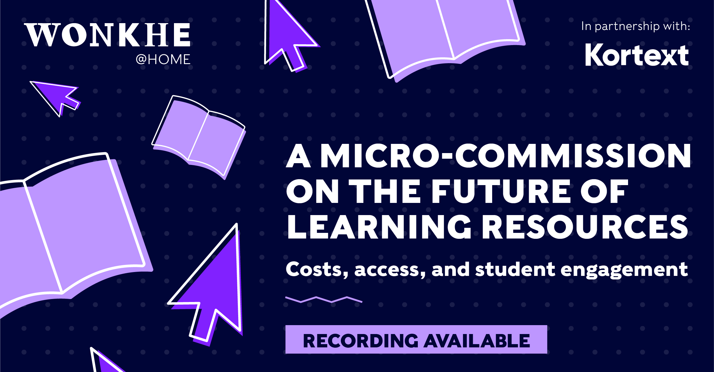 Image of Wonkhe @ Home: A micro-commission on the future of learning resources