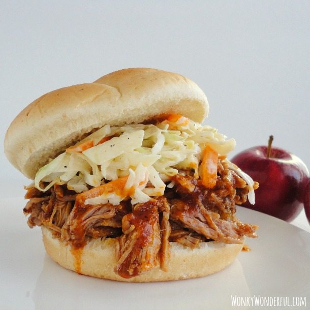 Apple BBQ Pulled Pork Sandwich