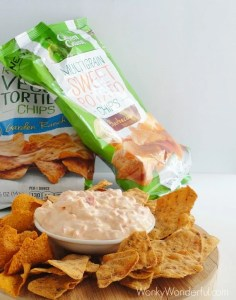 Sweet Pepper Dip and Green Giant Veggie Chips