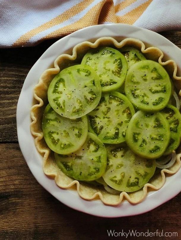 Fried Green Tomato Pie ::: wonkywonderful.com
