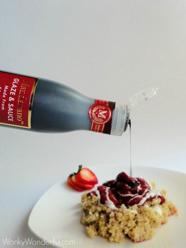 Roasted Strawberry Quinoa with Balsamic Glaze ::: wonkywonderful.com