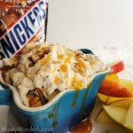 Creamy Snickers Dip Recipe wonkywonderful.com