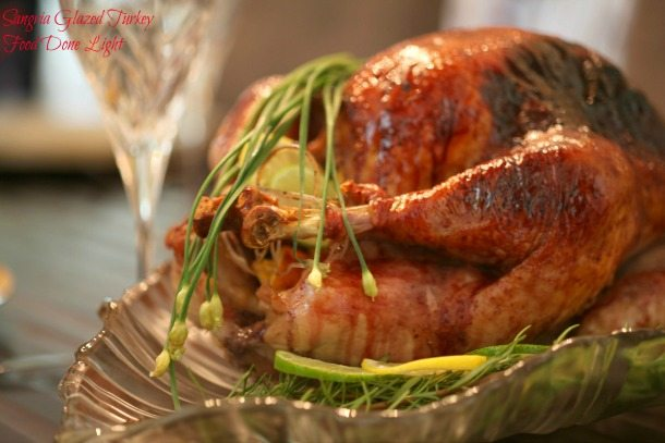 browned turkey on silver platter Wirth herbs