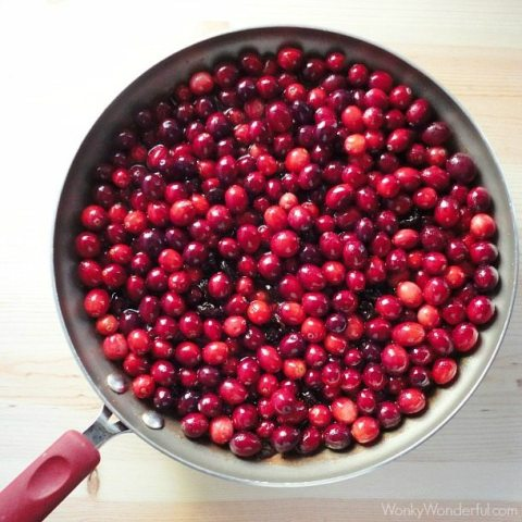 Quick and Easy Cranberry Sauce Recipe - wonkywonderful.com #thanksgiving