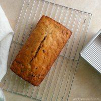 Orange Glazed Cranberry Bread