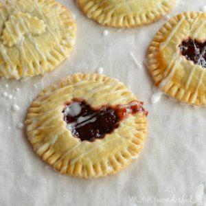 Nutella and Cherry Hand Pies - Valentine's Day Dessert Recipe - Pie - wonkywonderful.com