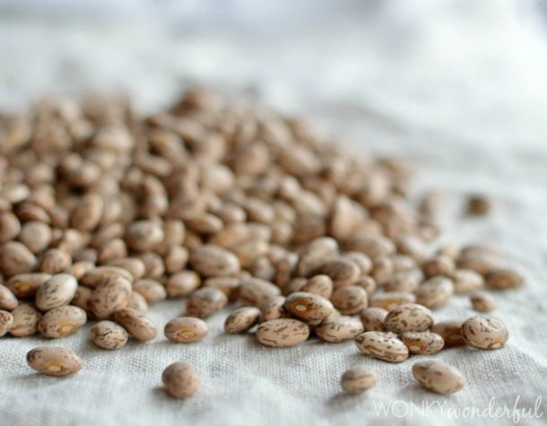uncooked pinto beans
