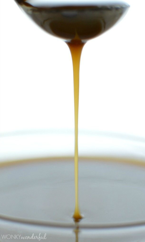Vegan Caramel Recipe - Dairy Free Caramel Sauce Recipe - 3 Ingredients! No thermometer needed. wonkywonderful.com