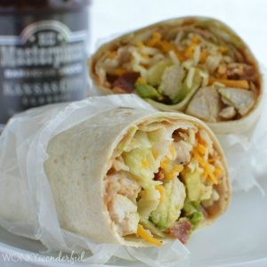 Creamy Barbecue Chicken Wrap