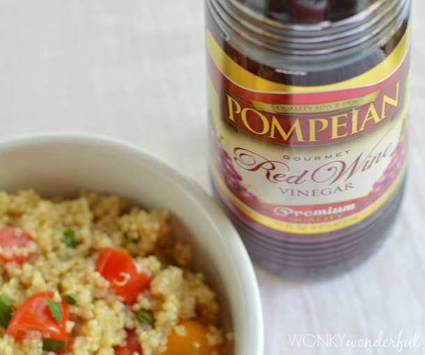 Homemade Dressing and Tomato Quinoa Salad - #healthy #glutenfree #vegetarian #vegan