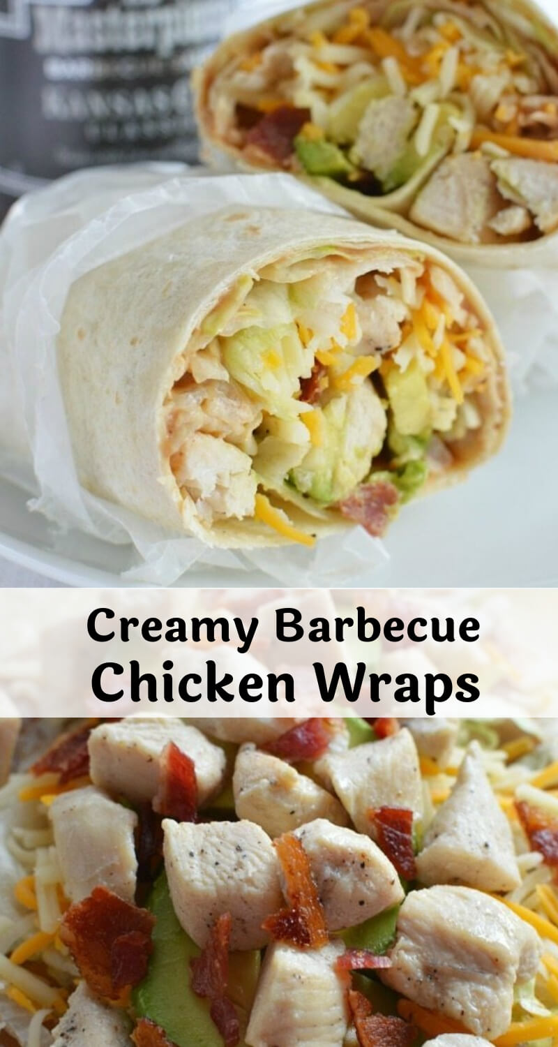 barbecue chicken wrap recipe photo collage