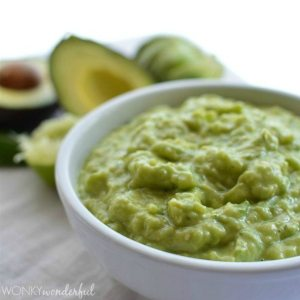 Green Salsa Recipe : Tangy Tomatillo Salsa mixed with Avocado : Salsa Guacamole Hybrid : appetizer, dip