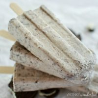 Oreo Cookies and Cream Popsicles