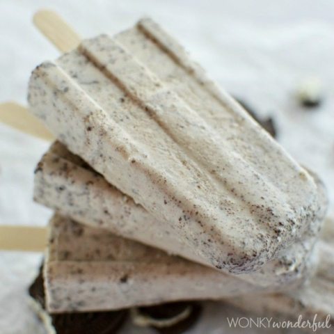 stack of light brown popsicles with dark brown flecks