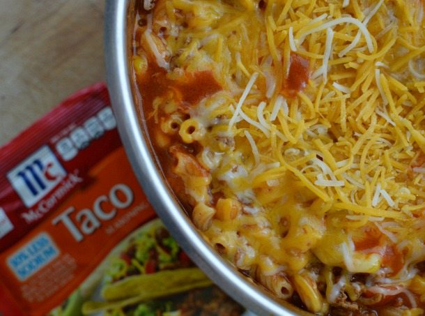 One Pot Taco Casserole Recipe with McCormick FlavorPrint : Easy Dinner : Pasta : Tex Mex