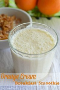 Orange Cream Breakfast Smoothie : Healthy Breakfast Recipe