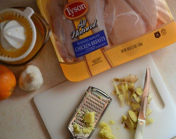 Sticky Orange Ginger Chicken Recipe : Chicken Dinner