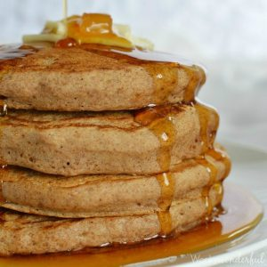 Gingerbread Spiced Vegan Pancake Recipe #breakfast