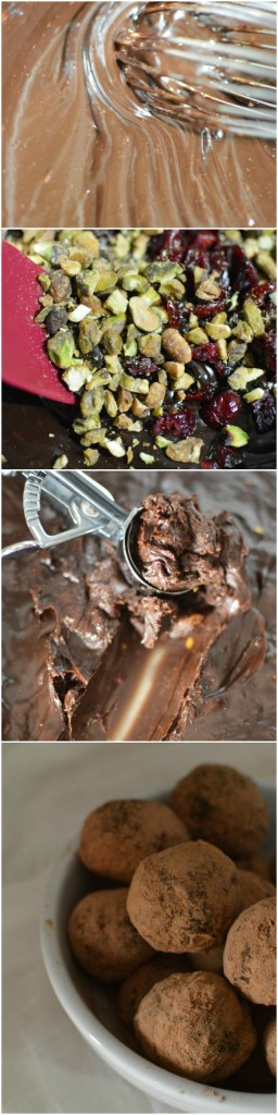 Cranberry Pistachio Dark Chocolate Truffle Recipe - Easy Dessert