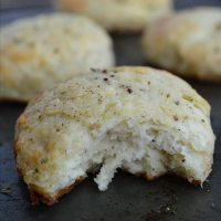 Parmesan and Pepper Biscuit Recipe with Butter