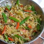 This Easy Chow Mein Recipe is how to make chow mein noodles at home. With this homemade take out you can enjoy vegetable stir fry for dinner without leaving your house! Chinese food straight from your kitchen!