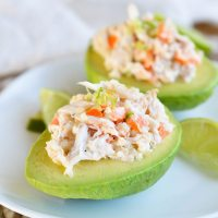 Crab and Quinoa Salad Stuffed Avocados