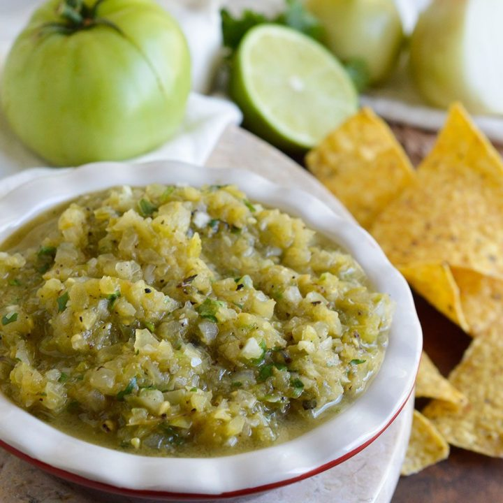 Grilled Green Tomato Salsa Verde