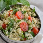 Quinoa Tabouleh Salad is a fresh and healthy lunch or dinner. Mint, parsley, tomatoes and lemon make this salad extra flavorful! This recipe is also known as tabbouleh or tabouli.