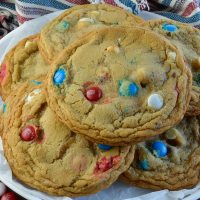 Soft Chocolate Chip Cookies with White Chocolate and M&M's