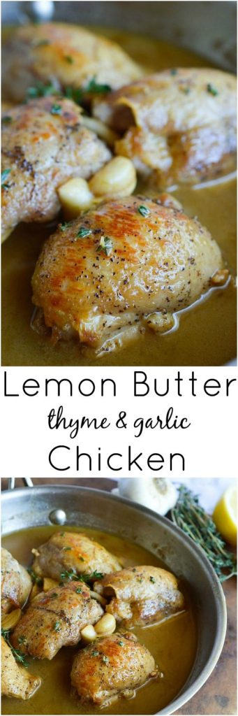 Lemon Butter Chicken Thigh Recipe photo collage