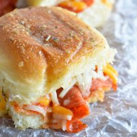 Oven Baked Pepperoni Pizza Sandwiches