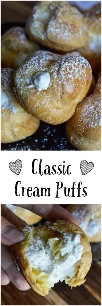 This Classic Cream Puff Recipe is simple and delicious dessert! Pastry puffs filled with fresh whipped cream. Find more cream puff recipes in the Simply Sweet Dream Puffs cookbook.