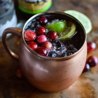 Cranberry Moscow Mule Cocktail