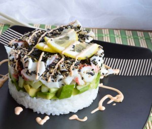 Homemade Sushi Stacks