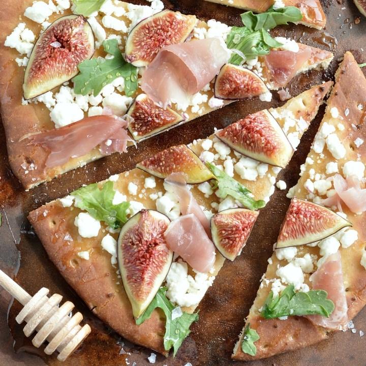 Fig and Prosciutto Flatbread Pizza
