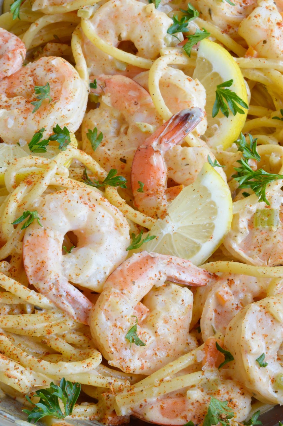 Cajun Shrimp Pasta is a fancy yet simple dinner recipe. Shrimp and pasta slathered in a creamy wine sauce flavored with Cajun spices and lemon zest. Perfect for date night at home!