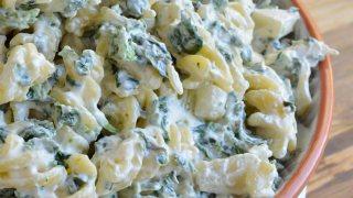 Spinach Dip Gluten Free Pasta Salad