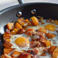 Butternut Squash & Bacon Fall Breakfast Hash